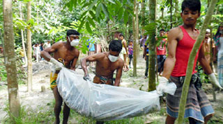 গৃহবধূর মৃত্যু ঘটনায় মামলা: ছয়মাস পরলাশ উত্তোলন