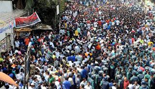 নয়াপল্টনে বিএনপির সমাবেশ চলছে