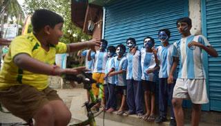আর্জেন্টিনা ও ব্রাজিল সমর্থকে বিভক্ত ভারতের যে শহর