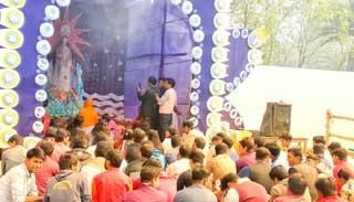 নজরুল বিশ্ববিদ্যালয়ে সরস্বতী পূজা উদযাপন