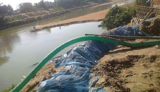 মৌলভীবাজারের নদী ও ছড়ায় যত্রতত্র বালি উত্তোলন