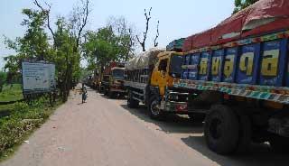 ঢাকা-ময়মনসিংহ মহাসড়কে ভয়াবহ যানজট