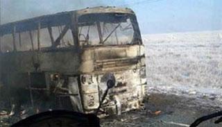 কাজাখস্তানে বাস দুর্ঘটনায় ৫২ জন নিহত