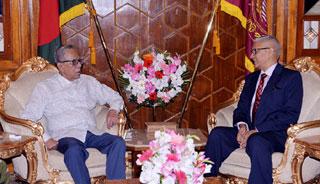 রাষ্ট্রপতির সাথে ইন্দোনেশিয়ায় নবনিযুক্ত রাষ্ট্রদূতের সাক্ষাৎ