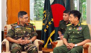 মায়ানমার ও বাংলাদেশ সেনাবাহিনীর মধ্যে দ্বিপাক্ষিক বৈঠক