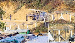 আবার তুমব্রু সীমান্তে মিয়ানমার সেনাদের অবস্থান