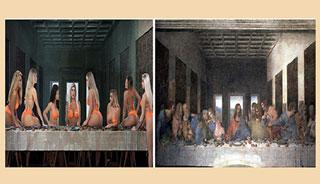নেটদুনিয়ায় নিতম্ব সুন্দরীদের 'দ্য লাস্ট সাপার' তীব্র সমালোচনায়