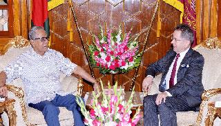 রাষ্ট্রপতির সঙ্গে ইইউ'র রাষ্ট্রদূতের বিদায়ী সাক্ষাৎ