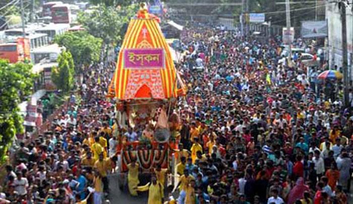 শ্রী শ্রী জগন্নাথ দেবের  রথযাত্রা উৎসব অনুষ্ঠিত।