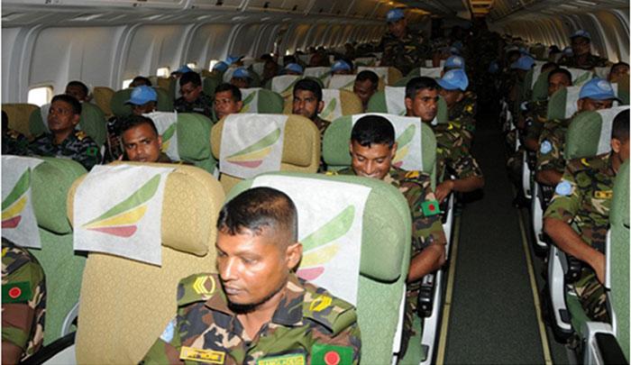 দক্ষিণ সুদানে বাংলাদেশ সেনাবাহিনীর কন্টিনজেন্ট মোতায়েন