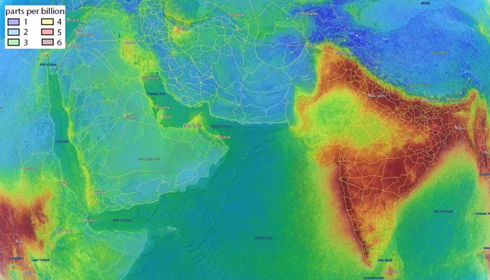 মহাকাশ থেকে ভারতের বাতাস কেন দেখতে ভিন্ন