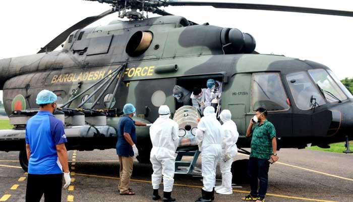 করোনা রোগীর সহায়তায় বিমানবাহিনীর জরুরি সেবা