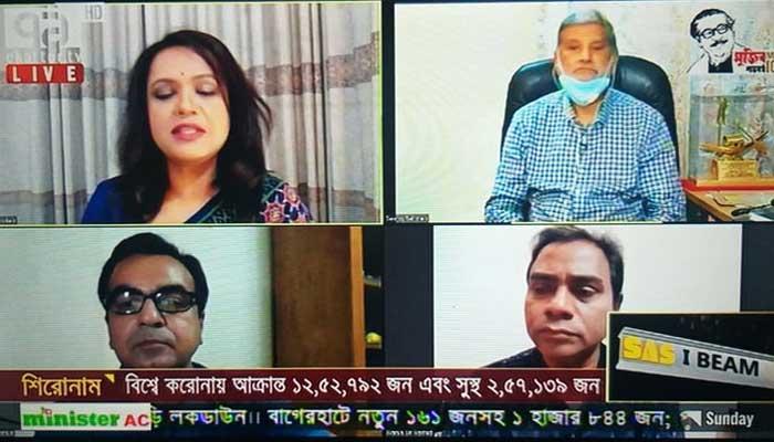 'ঘরে থাকুন' আহ্বান নিয়ে এবার অনলাইনেই টিভি টকশো