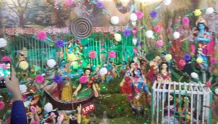 কমলগঞ্জে রাধা কৃষ্ণের ঝুলনযাত্রা সম্পন্ন