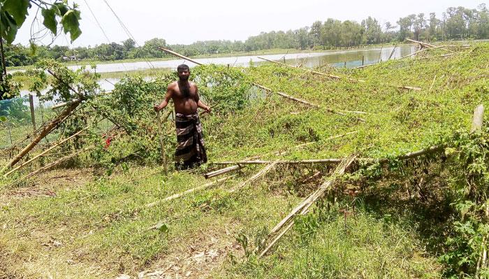 কালবৈশাখীর ক্ষয়ক্ষতি: কমলগঞ্জে একমাসেও মেলেনি সহায়তা