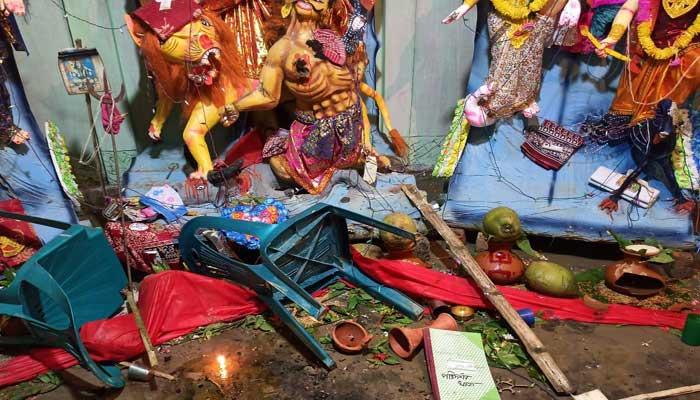 কমলগঞ্জে পূজামণ্ডপে দুর্বৃত্তদের হামলা: মোতায়েন হচ্ছেবিজিবি