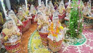 সাঙ্গ হলো কমলগঞ্জের মণিপুরী মহারাসলীলা : হাজারো মানুষের ভিড়