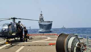 EU, India conduct joint naval exercise in the Gulf of Aden