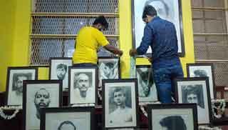 আলিপুর কোর্টে বিপ্লবীদের প্রতিকৃতিতে চেতলা হিন্দ সংঘের মাল্যদান