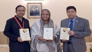''ভাষণসমগ্র, শেখ মুজিবুর রহমান'' বইয়ের মোড়ক উন্মোচন