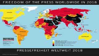 সংবাদমাধ্যমের স্বাধীনতা সূচকে বাংলাদেশ ১৫০তম
