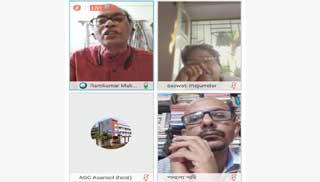 ভার্চুয়াল আলোচনায় মিললেন বাংলাদেশ-ভারতেরসাহিত্যিকরা