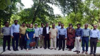 IRRI Representative Visited BAU