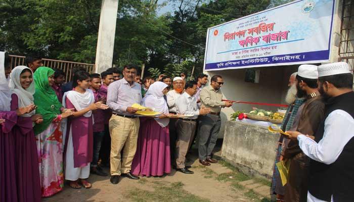 ঝিনাইদহে নিরাপদ সবজির 'ক্ষনিক বাজার' উদ্বোধন