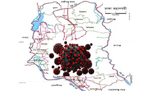 রাজধানীতে যে এলাকাগুলো কোভিড-১৯ রোগে সর্বাধিক আক্রান্ত