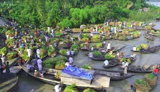 ভিমরুলিতে জমে উঠেছে ভাসমান আমন বীজের হাট
