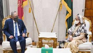 জাতীয় সংসদে রাষ্ট্রপতির সঙ্গে প্রধানমন্ত্রীর সাক্ষাৎ