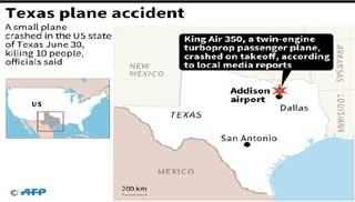 টেক্সাসে বিমান দুর্ঘটনায় ১০ জন নিহত