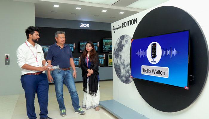 মেলায় ওয়ালটনের বাংলা ভয়েস সার্চ স্মার্ট টিভি
