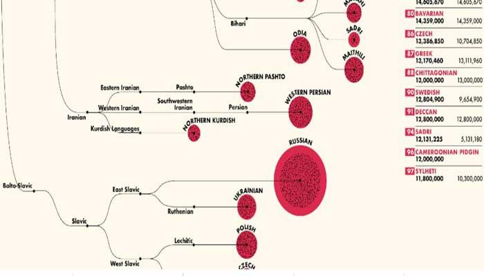 বিশ্বের শীর্ষ ১০০ ভাষার তালিকায় চাটগাঁইয়া-সিলেটি