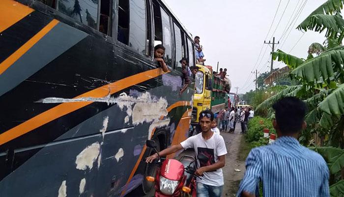 ঢাকা-টাঙ্গাইল মহাসড়কে ৫০ কিলোমিটার যানজট